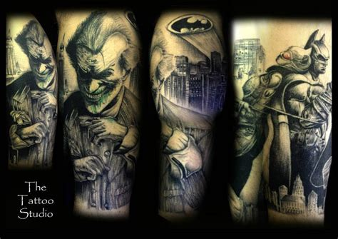 batman tattoo sleeve arkham city batman sleeve by tutty