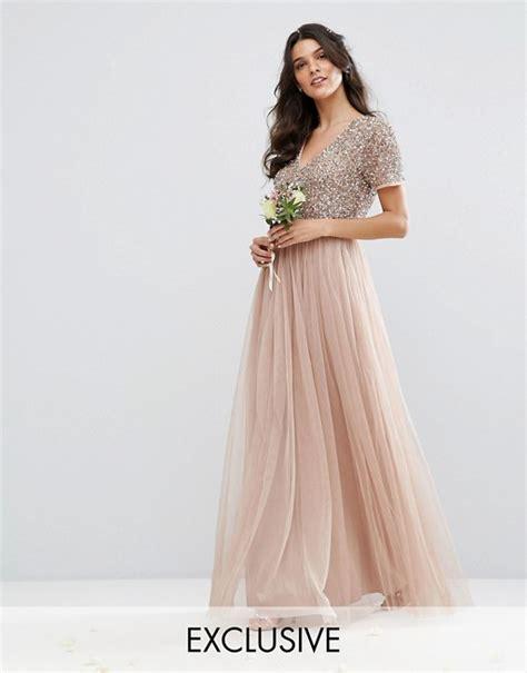 Mahya Dress v neck maxi tulle dress with tonal delicate