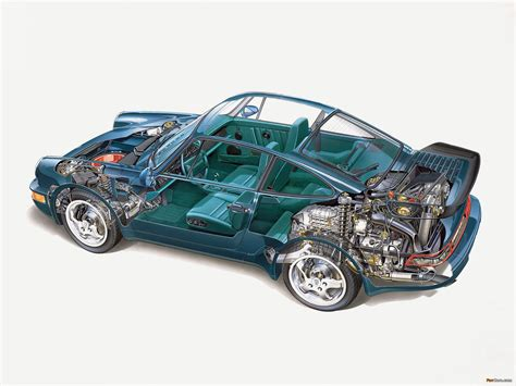 porsche 911 turbo engine cutaway pictures of porsche 911 turbo 3 3 coupe 964 1990 92