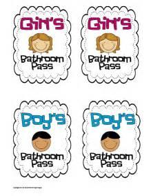 Bathroom pass cute bathroom passes
