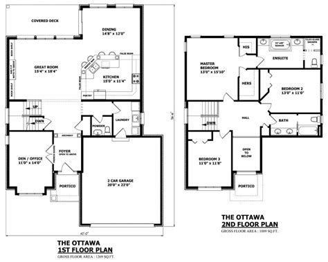 floor floor plan of two storey house canadian home designs custom house plans stock house