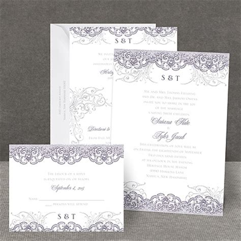 Wedding Invitations All In One by Lacy Flourishes All In One Wedding Invitation At
