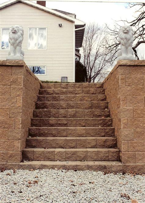 modular block steps rocksolidlandscape rochester mn