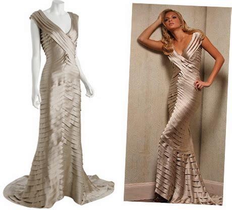Tadashi Taupe Satin V Neck Shutter Dress tadashi dresses