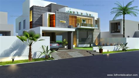 3d front elevation com beautiful modern contemporary