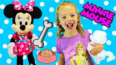 minnie mouse walk and play puppy new minnie mouse walk and play puppy snowpuff puppy pals