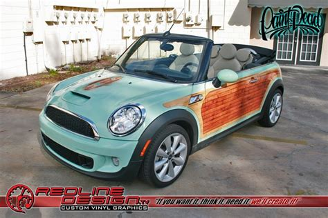custom mini cooper wrap woody surfer mini cooper wrap skepple inc