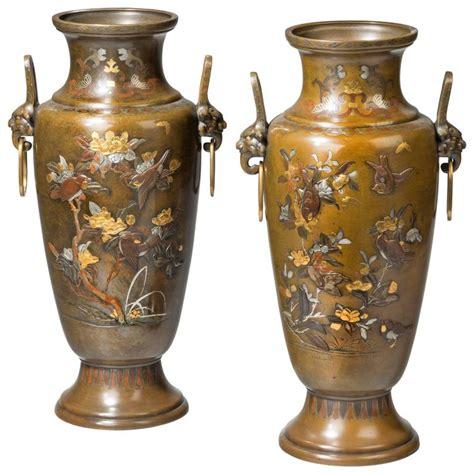 Large Metal Vase Large Pair Of Mixed Metal Meiji Period Vases For Sale At