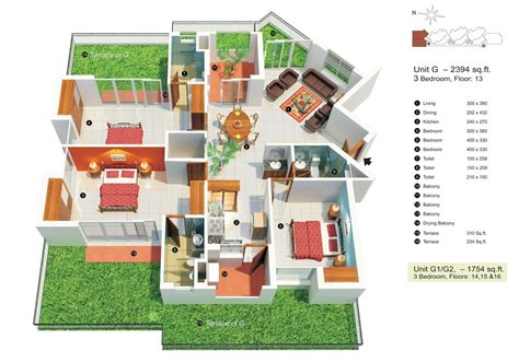 square footage visualizer 50 three 3 bedroom apartment house plans architecture