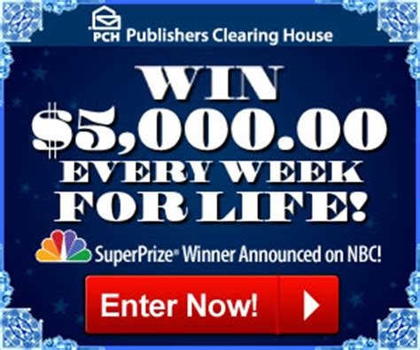 Pch Com Sweepstakes Entry Registration - 5000 a week for life bing images