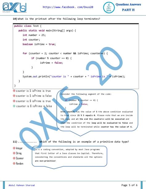 java programming questions and answers part ii