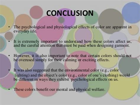 effects of color color and psychology