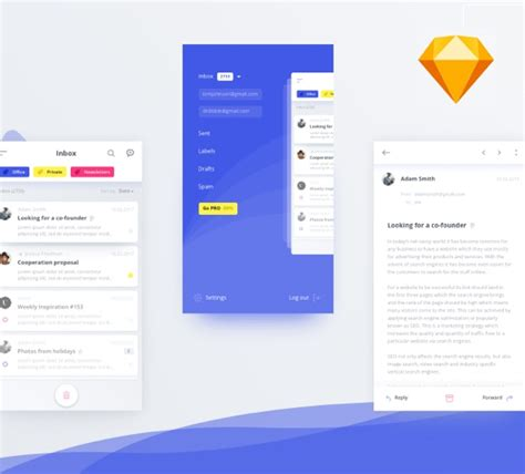 smart home app design kit for sketch freebiesui mail client app ui kit concept for sketch freebiesui