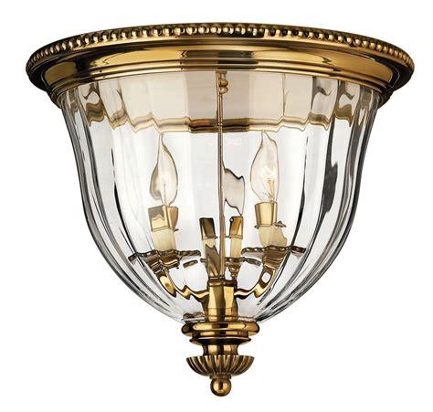 Hinkley Light Fixtures Hinkley Lighting 3612bb Burnished Brass 3 Light Indoor Flush Mount Ceiling Fixture From The