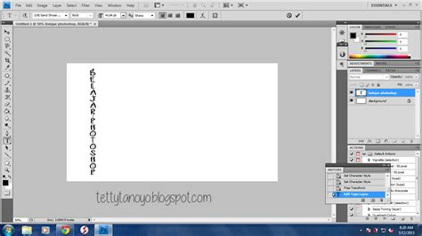 tutorial membuat tulisan unik dengan photoshop tutorial membuat tulisan di photoshop cs4 tettytanoyo