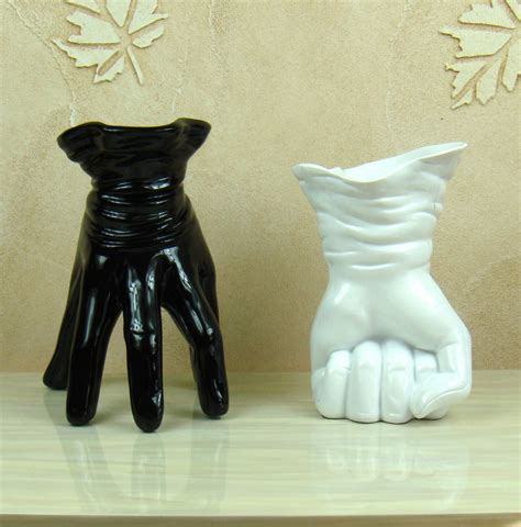 unique vases unique hand shape vase decorative resin abstract glove