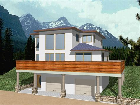 sloping lot home designs house plans