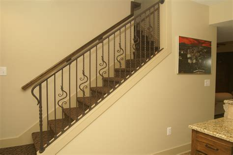 Inside Handrails Custom Interior Railings With Forged Details
