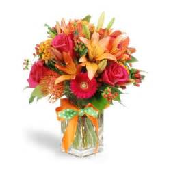 Best flower arrangements and designs red orange and green tropical