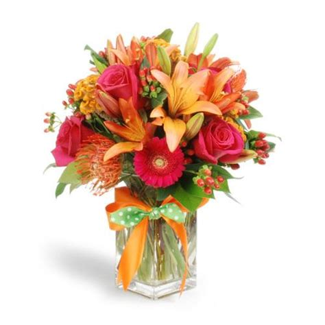 flowers arrangement best flower arrangements and designs red orange and green tropical centerpiece