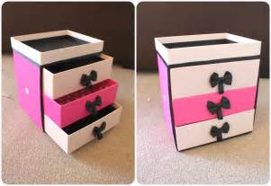 diy storage box peachfizzz diy make up storage
