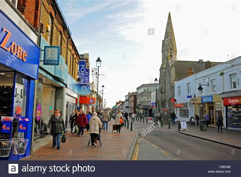houses to buy in sittingbourne shoppers in sittingbourne high street kent uk photograph taken stock photo royalty