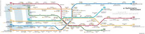 Munich Metro Map by U Bahn Munich Metro Map Germany