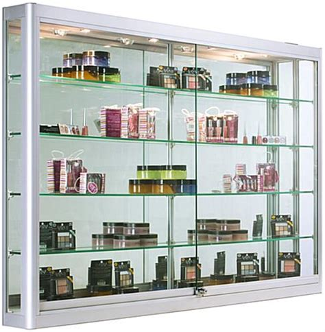 Wall Mounted Display Cabinet With Lights Wall Mounted Display Cabinet With Led Lights 5 Feet Wide