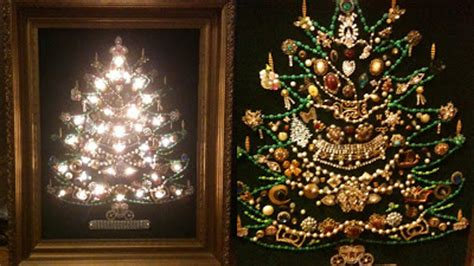 christmas tree made from costume jewelry by dultschxrfg on