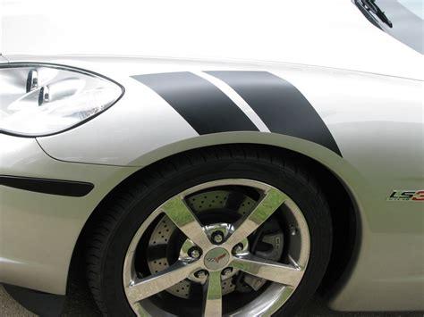corvette fender stripes c6 corvette 2005 2013 grand sport style fender accent