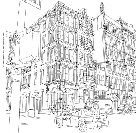 The Surprising Popularity Of An Urban Themed Coloring Book Coloring Pages City
