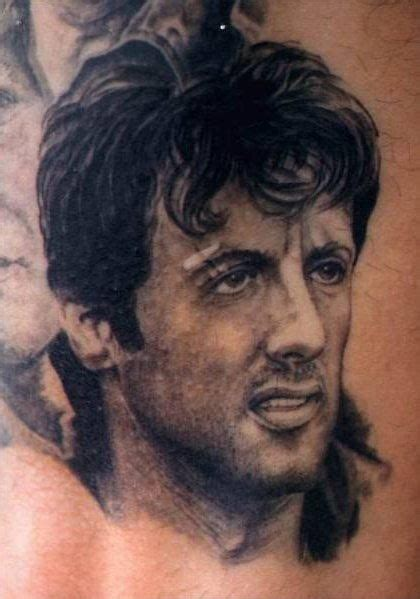 sylvester stallone tattoos tatuaje de retrato sylvester stallone tattoos and