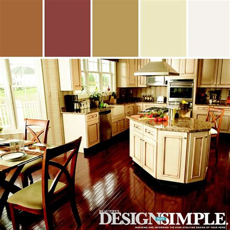 stylyze warm kitchen color palette for the home