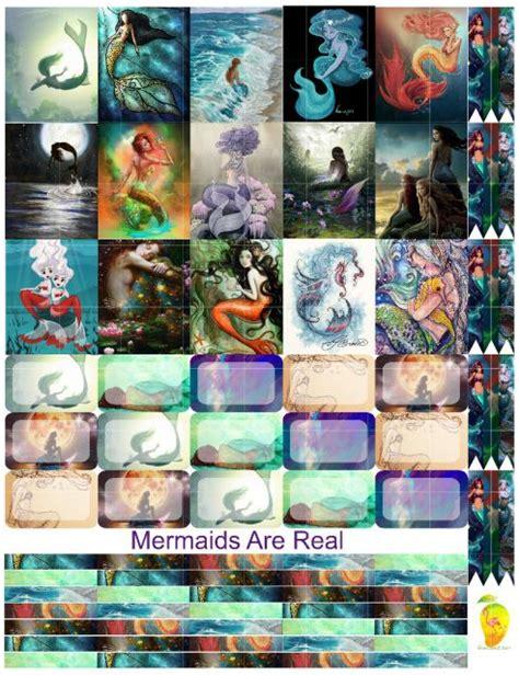 printable mermaid stickers quot mermaids are real quot free planner stickers free planner