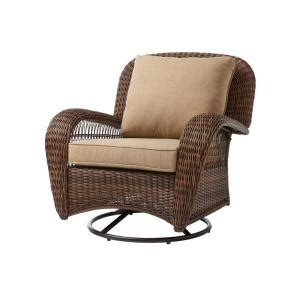 hampton bay beacon park wicker outdoor swivel lounge chair