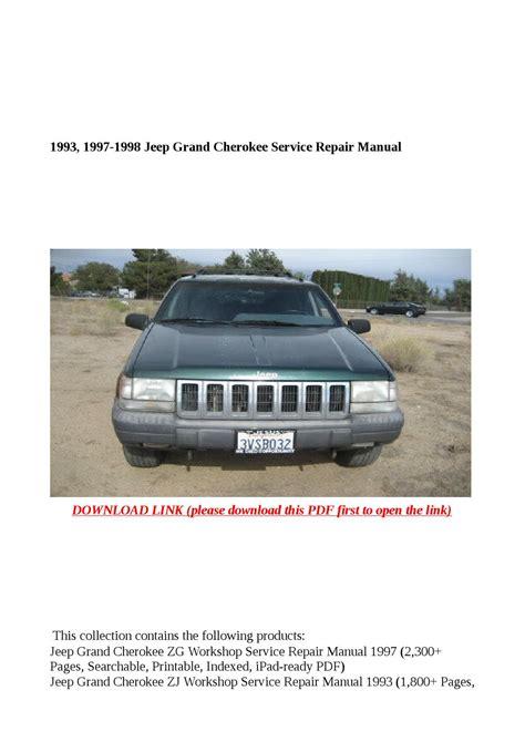 1993 1997 1998 Jeep Grand Cherokee Service Repair Manual