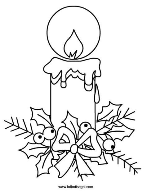 candela di natale da colorare tutto disegni disegni da colorare biglietti auguri