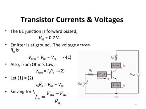 bjt transistor gain formula topic 4 bipolar junction transistors