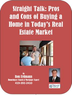 Pros And Cons Of Mba In Today S Environment by Free Reports Erdmann Homebuyer Coach Mortgage