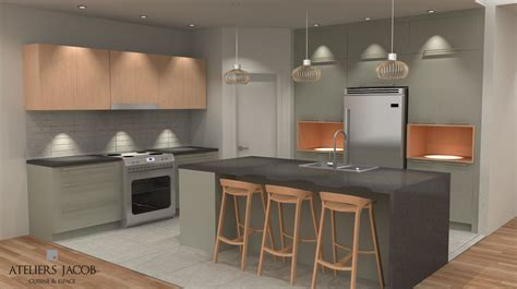 Best Kitchen Colors - 3d kitchen rendering ateliers jacob calgary