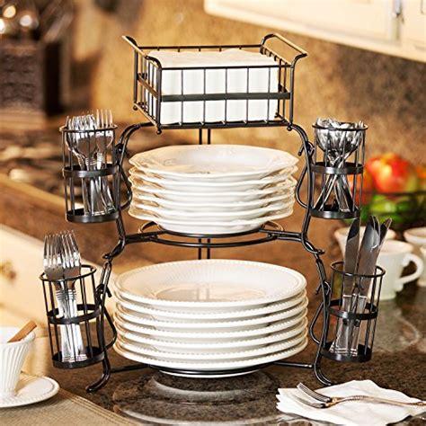 serving stackable buffet caddy 7 pieces kitchen utensils