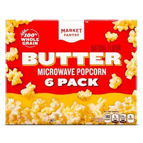 Popcorn Pantry by Market Pantry Butter Microwave Popcorn 6 Pk Target