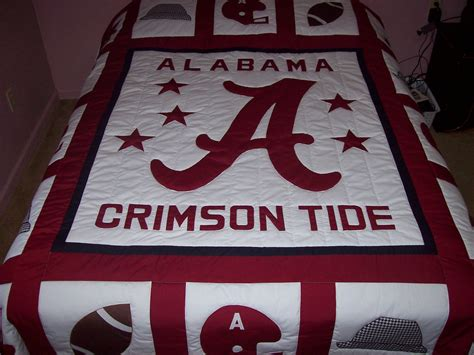 Alabama Quilts by Home Made Alabama Crimson Tide Size Quilt Ebay