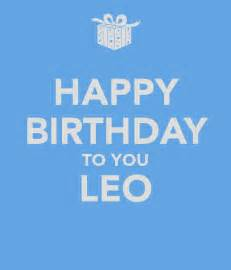 Fun To See Wall Stickers happy birthday to you leo keep calm and carry on image