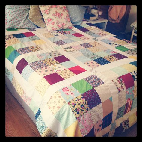 Patchwork Coverlet - craft project patchwork quilt burkatron