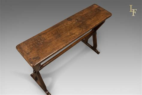 X Frame Console Table Antique Console Table Narrow X Frame Oak Overtones Circa 1880 Ebay
