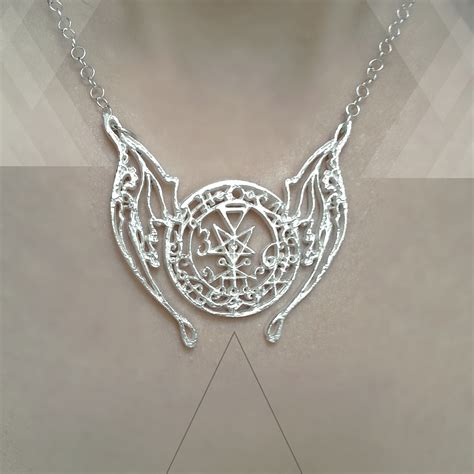 jewelry winged seal of lilith amulet