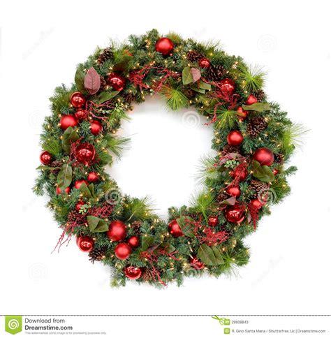 christmas wreath stock photos image 28608843