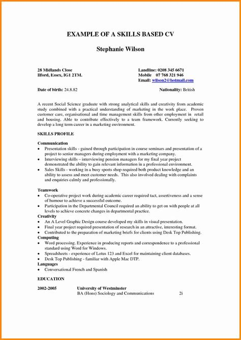 Exle Of Skills On A Resume by Administrative Assistant Resume Skills Functional Resume