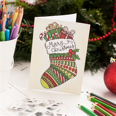Christmas Cards 20 Pack Sarah Renae Clark Coloring Book Artist And Designer Diy Card Template